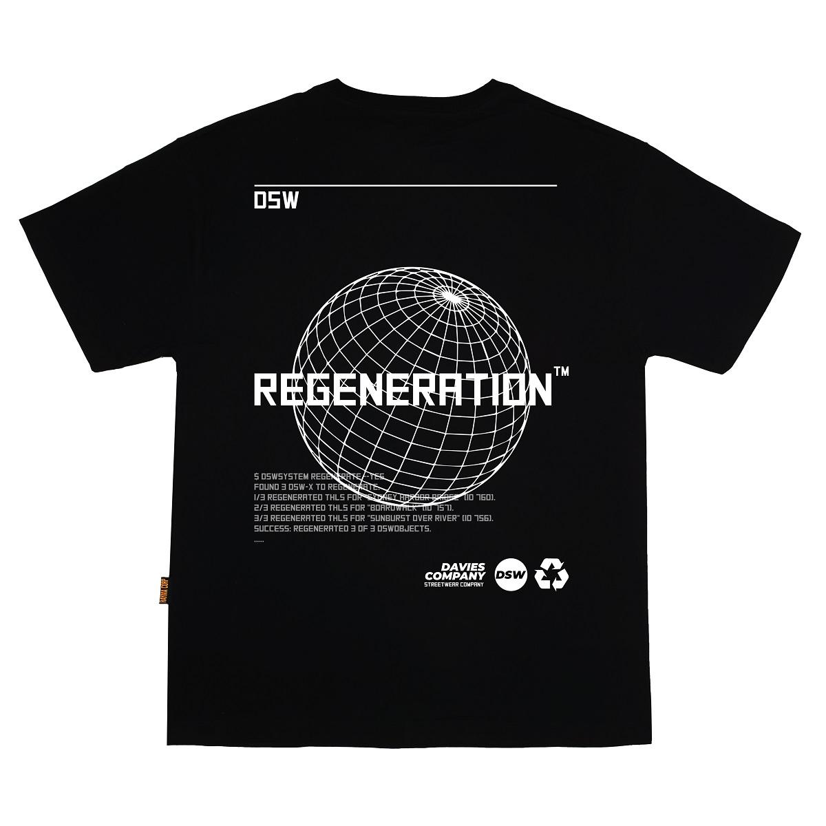 DSW Tee Earth Regeneration-Black