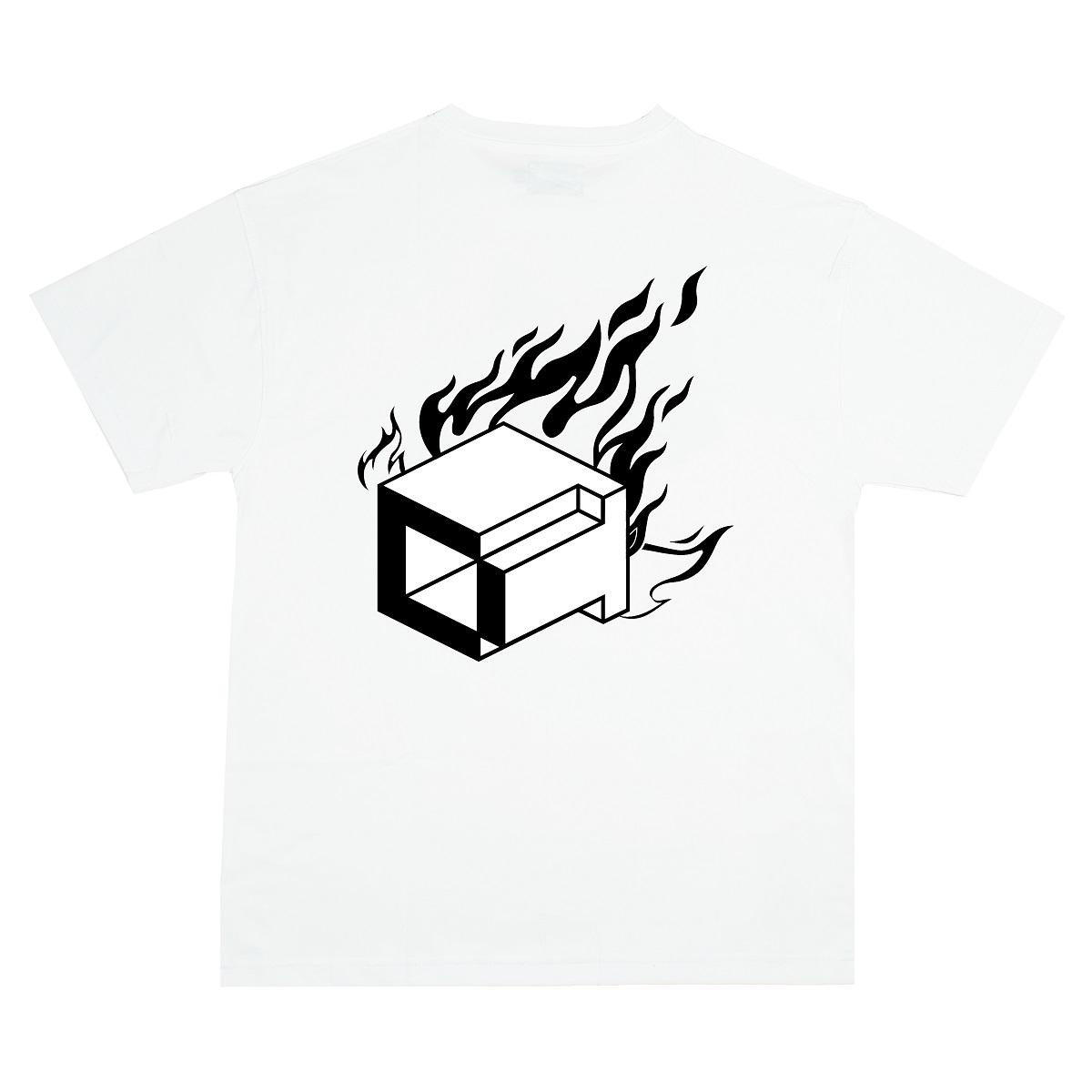 DVSL TEE BITCH IM ON FIRE - WHITE