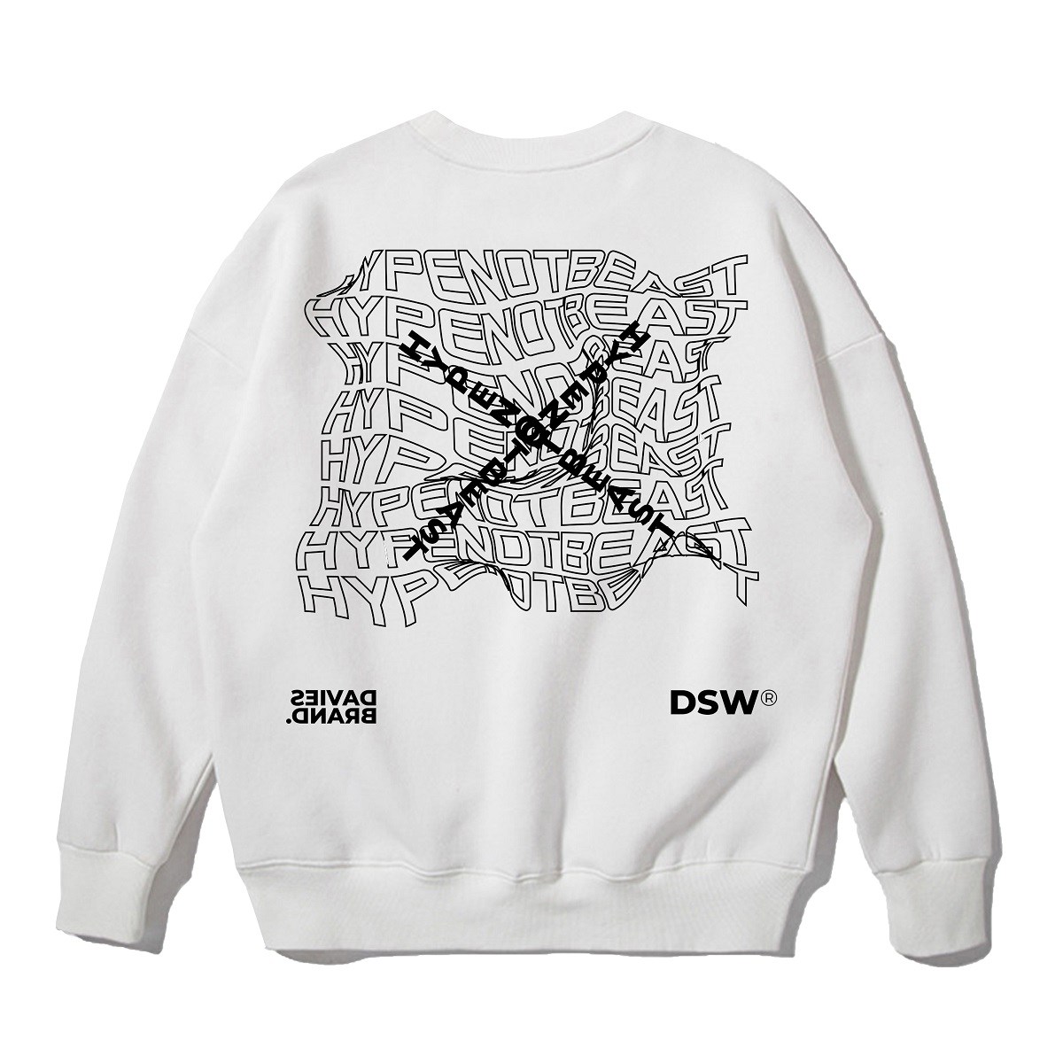 DSW SWEATER HYPE NOT BEAST - White
