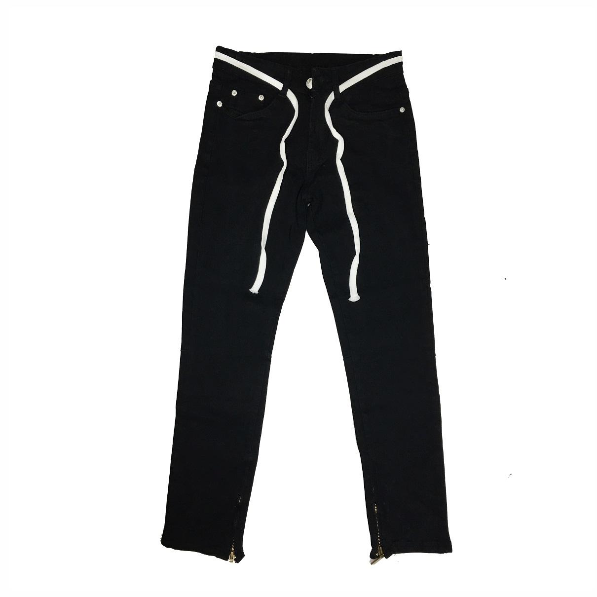 DVSL Jeans Inside Zips In Black