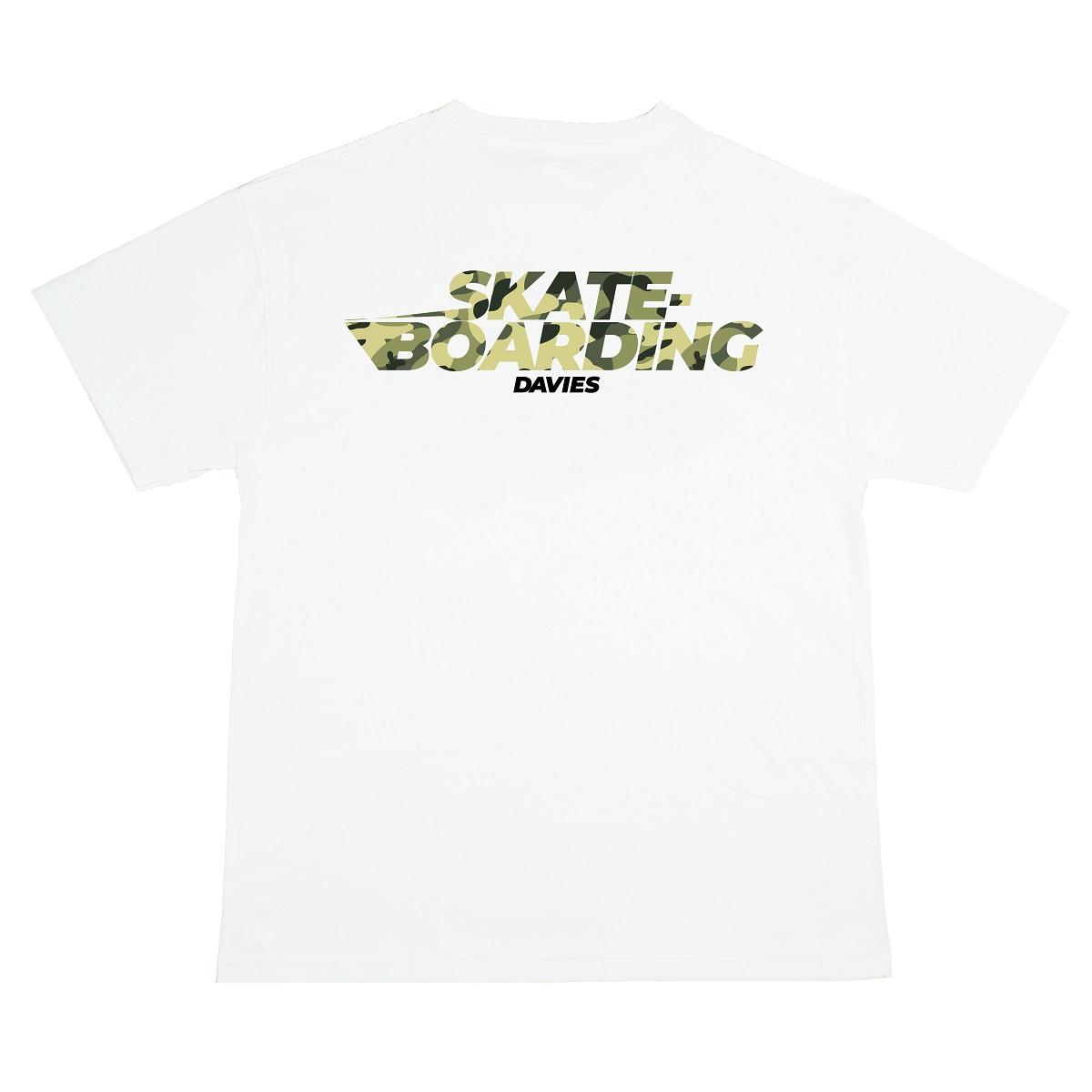 DSW Tee Skateboarding Camo-White