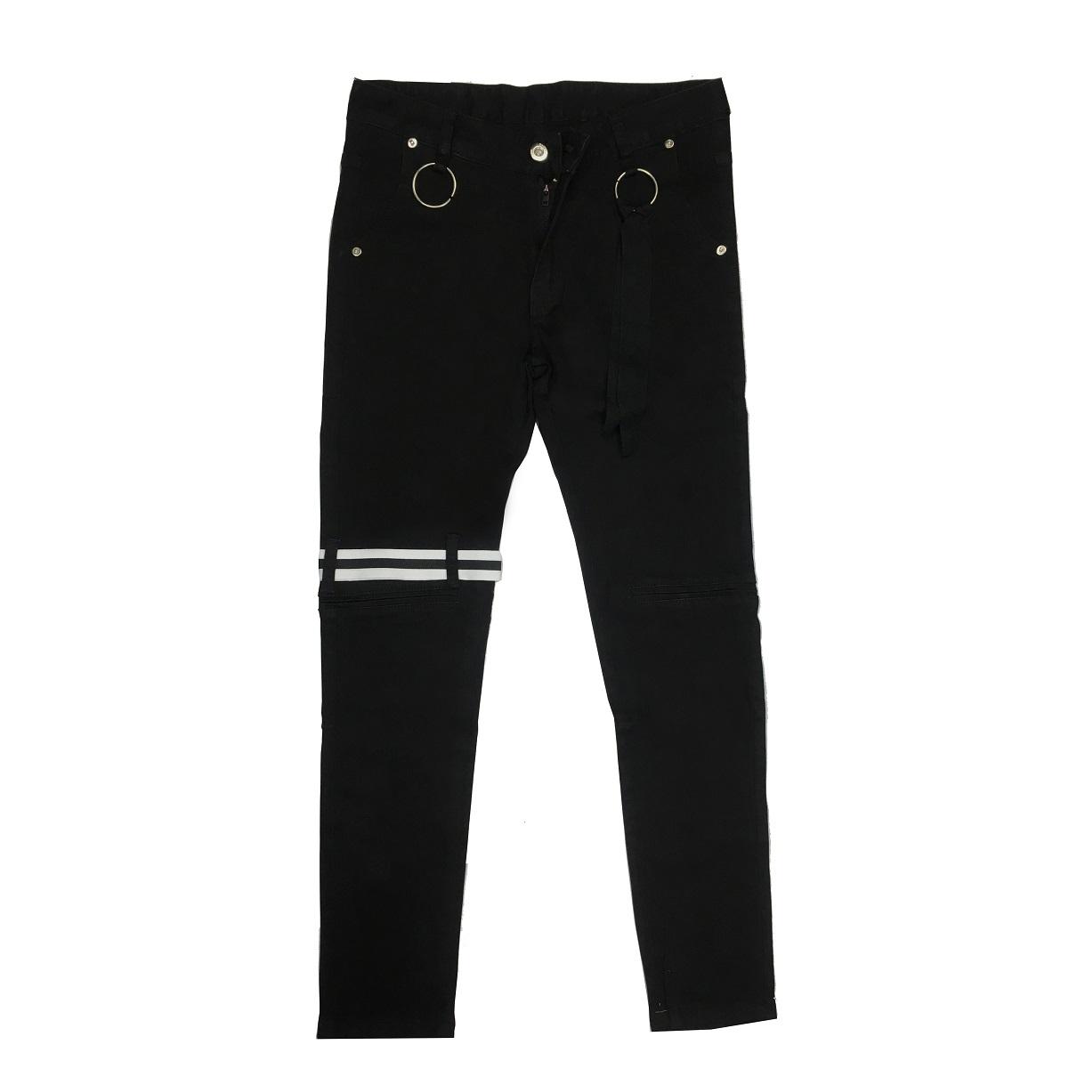 DVSL Jean With Straps Black