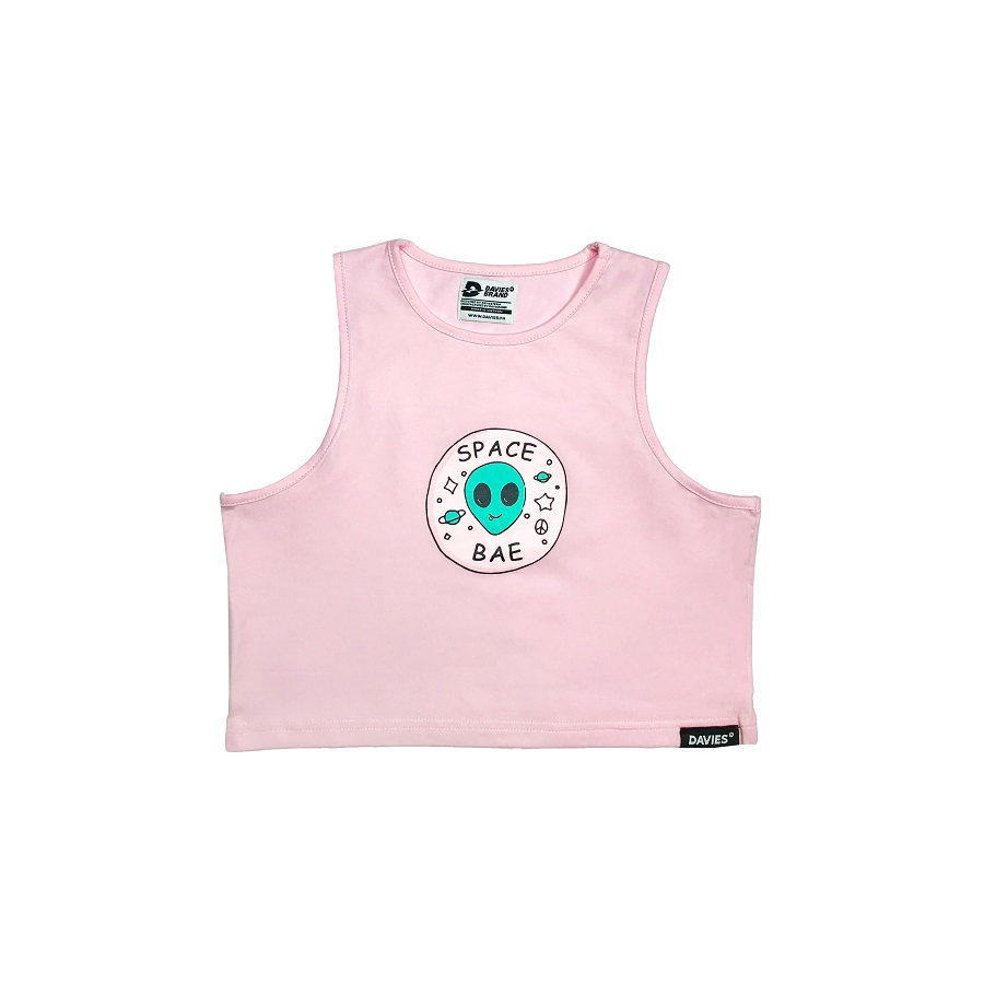 DSS Croptop Space Bae-Pink