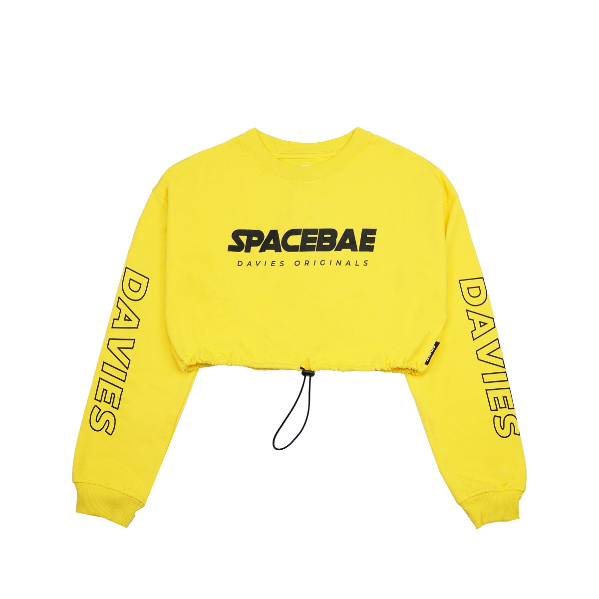 DSS Croptop LS Space Bae-YELLOW
