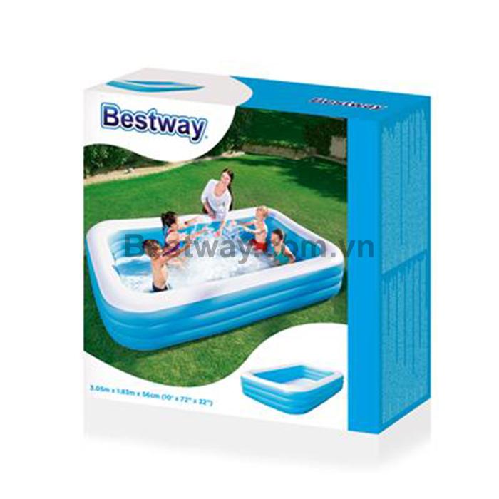 Bể phao bestway 54009 tặng bơm điện