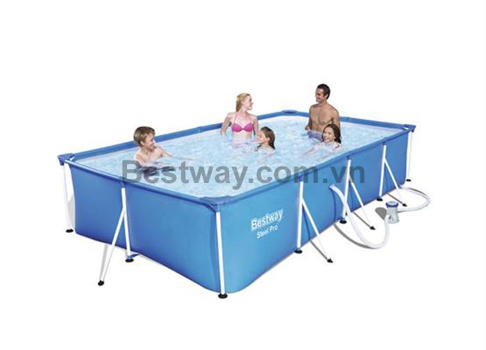 Bể bơi khung kim loại 4m x 2.11m x 81cm 56424