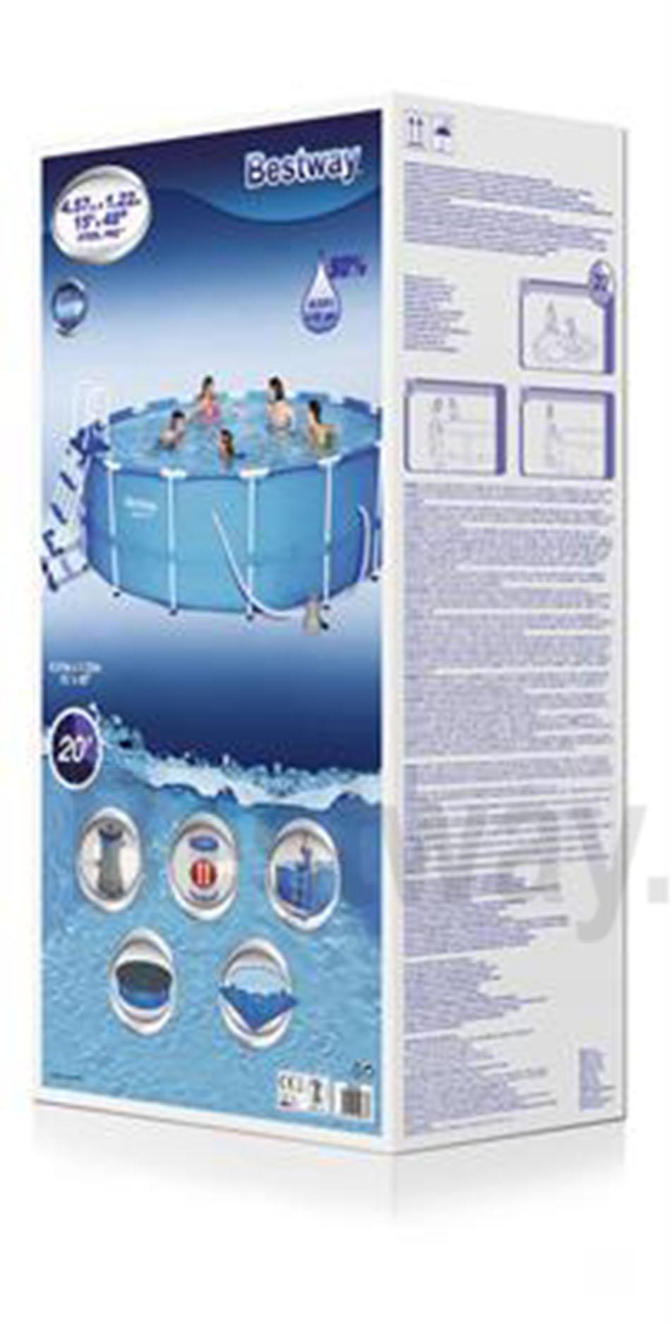 Bể bơi tròn 4.57m x 1.22m khung kim loại 56438