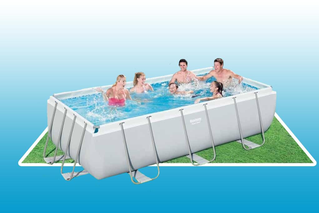 Bể bơi khung kim loại Bestway 56442 4.04mx 2.01mx 1.00m