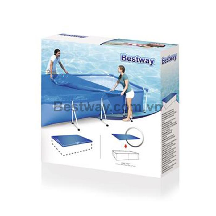 Bạt che đậy dùng cho bể bơi 58105 2.59m x 1.70m x61cm
