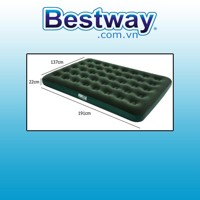 Đệm hơi Bestway 67448 Kích thước: 1.91m x 1.37cm x 22cm(tặng bơm)