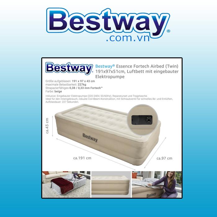 Đệm hơi - Bestway 69009 ( có tích hợp sẵn bơm)