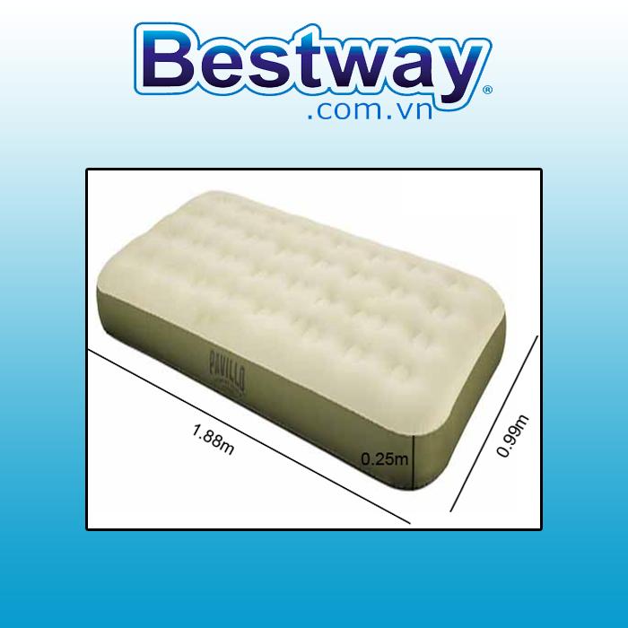 Đệm hơi Bestway 69021 kích thước  1.88mx99cm x 25cm - Tặng bơm