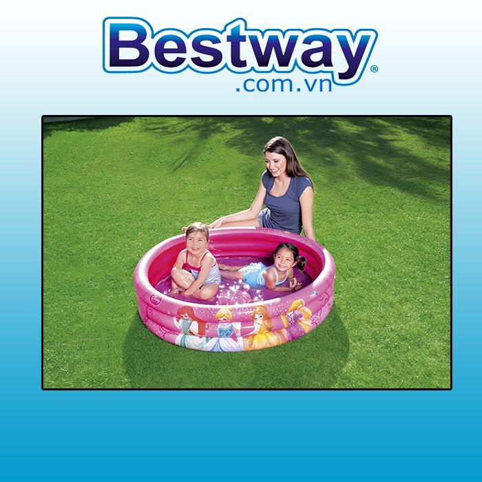 Bể phao Bestway 91047 1.22m x 25cm ( tặng bơm điện)
