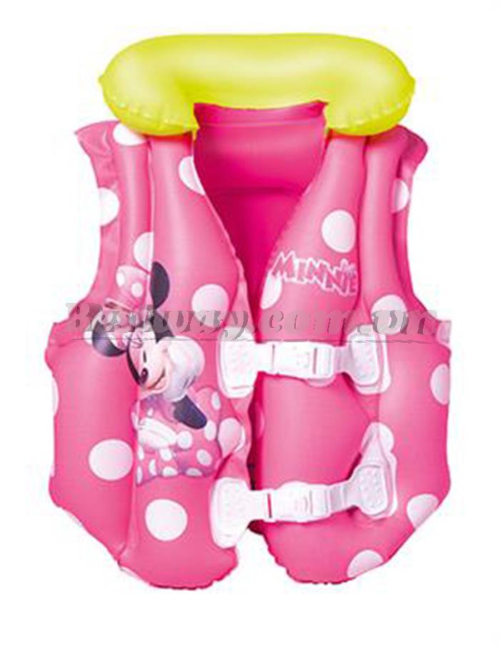 Áo phao hình Mickey hồng Bestway 91070