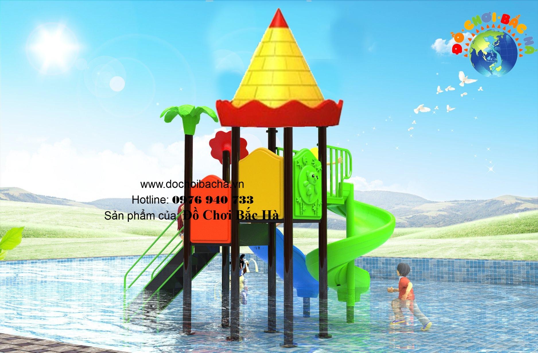 Cầu trượt bể bơi số 3
