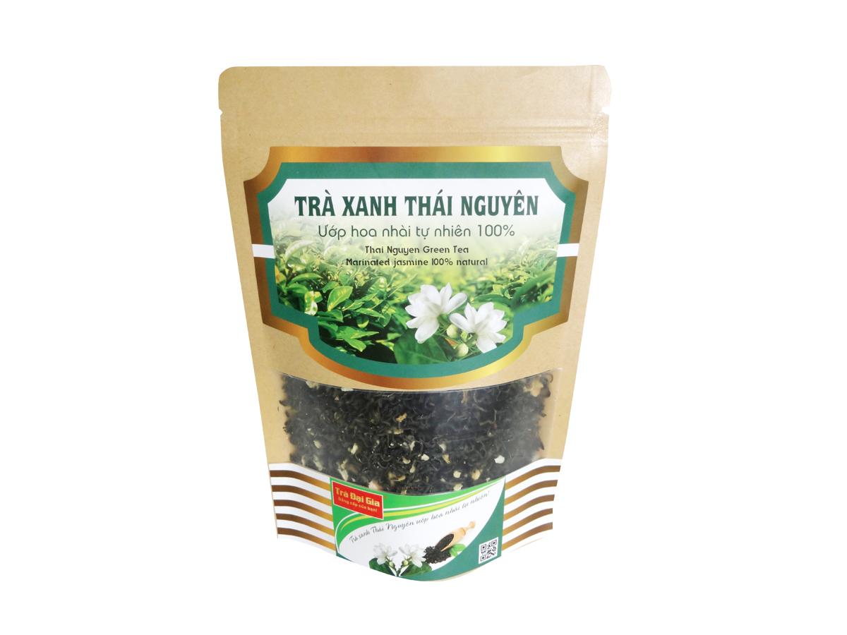 Trà xanh Thái Nguyên ướp hoa nhài tự nhiên