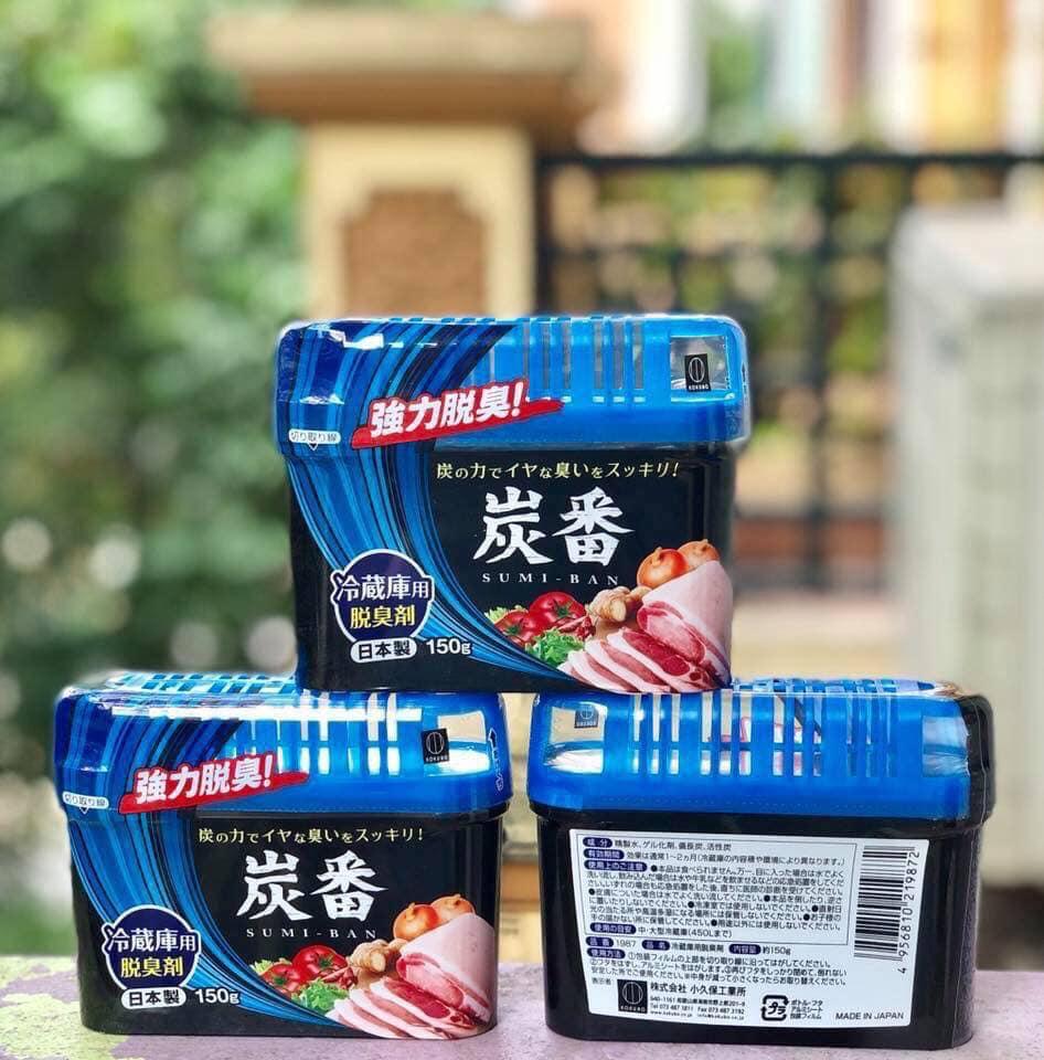 Set 3 hộp khử mùi tủ lạnh than hoạt tính Nhật Bản