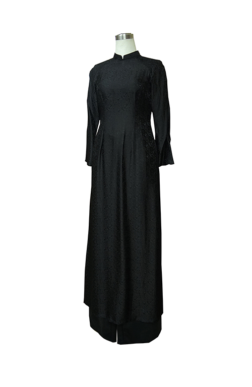 Áo dài lụa đen