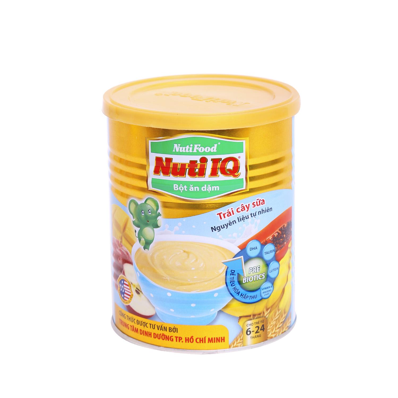 Bột ăn dặm nuti IQ trái cây sữa 350g