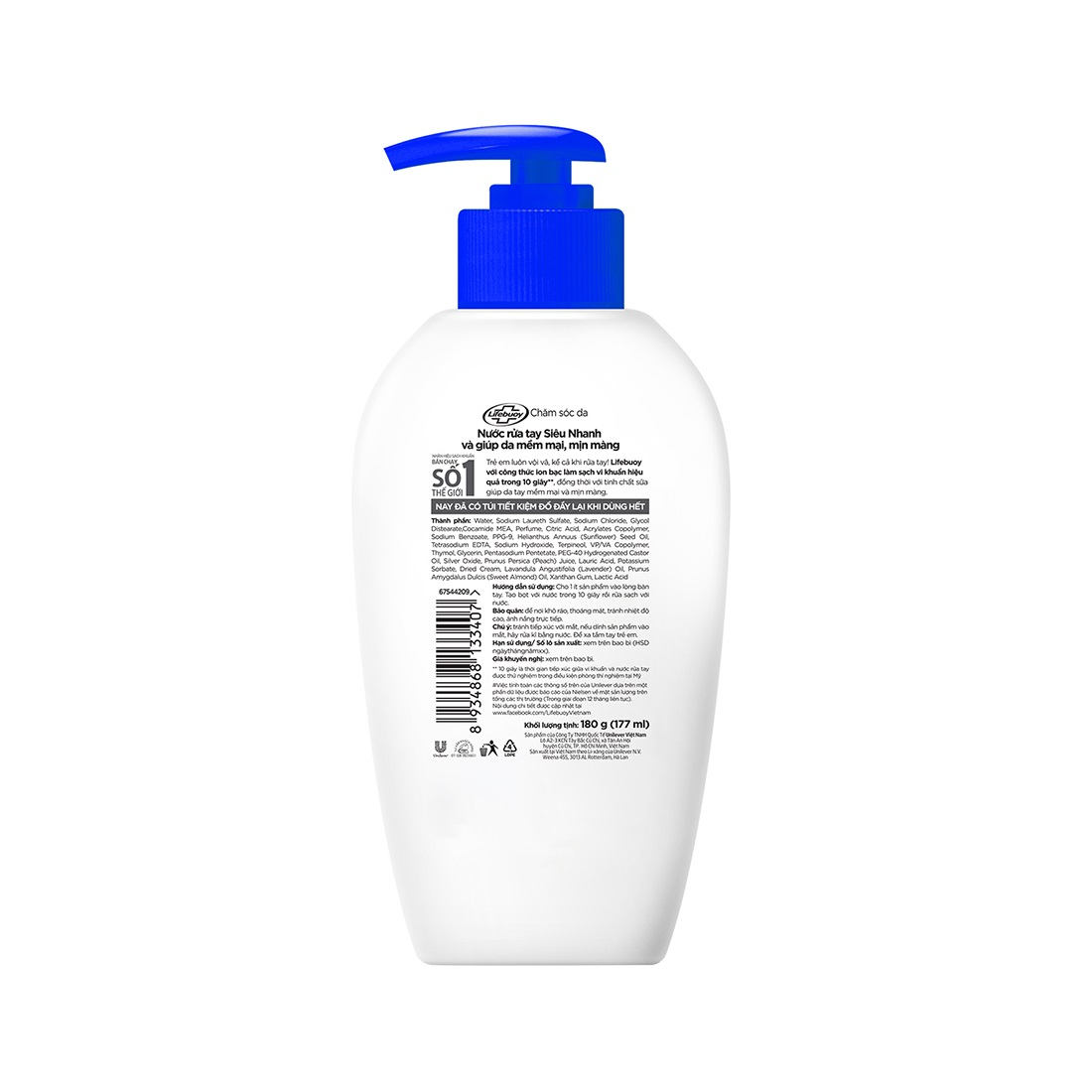 Nước rửa tay lifebuoy chăm sóc da 500g (Chai)