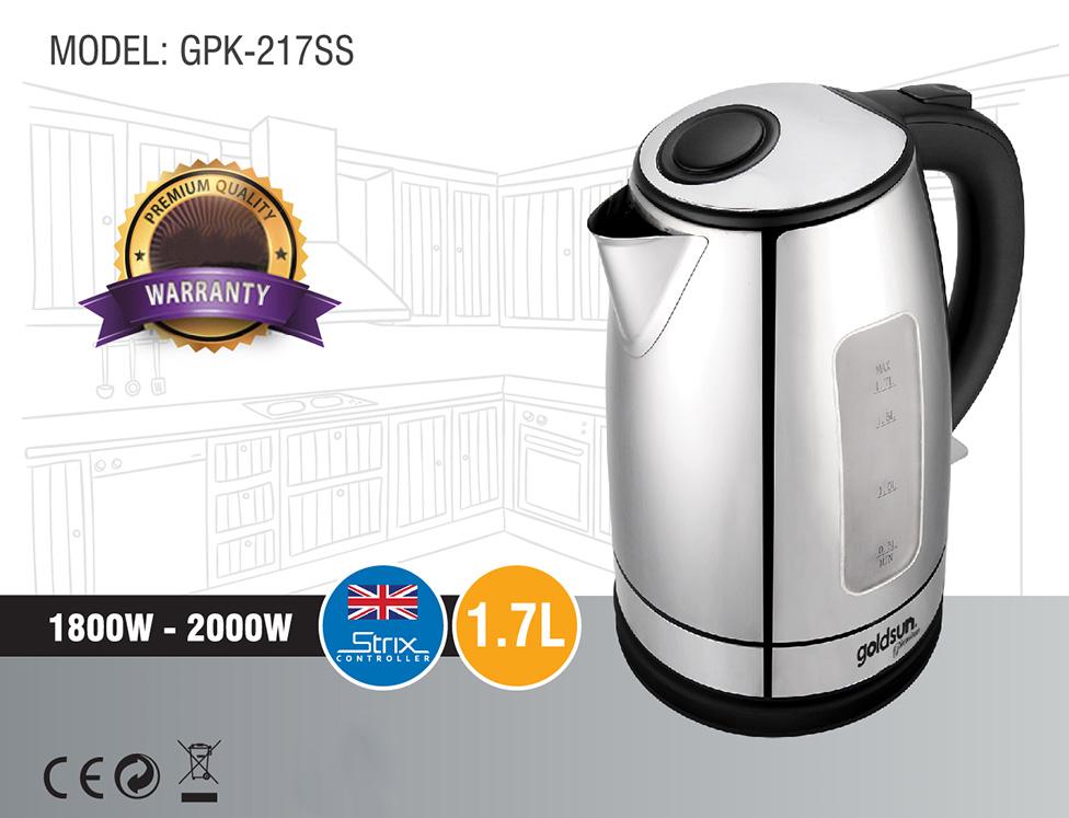 Ấm Siêu Tốc Goldsun  Premium GPK217SS - 1.7L