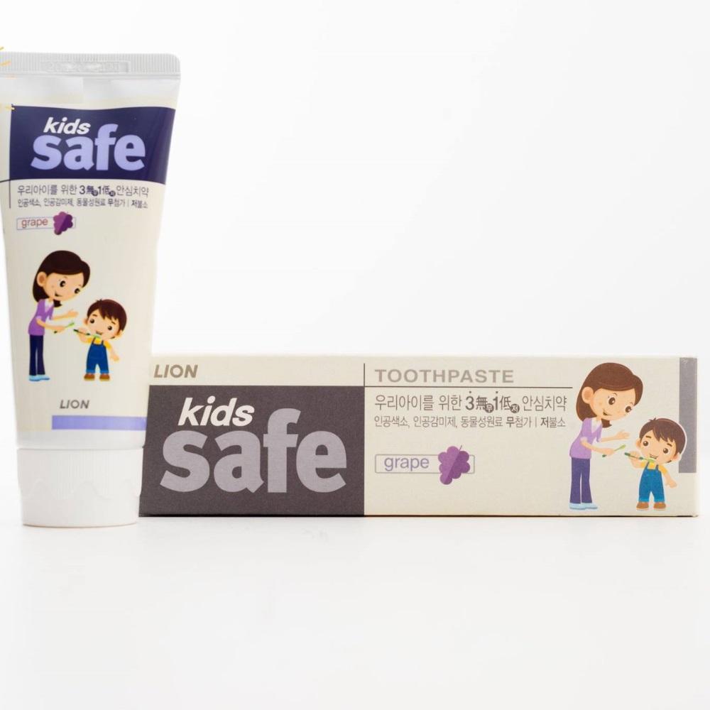 Kem đánh răng trẻ em Kids Safe vị nho 90g
