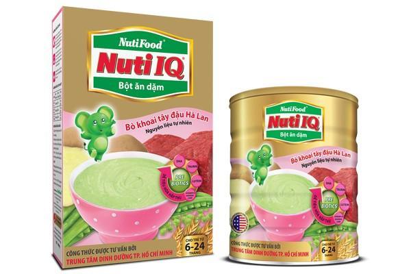 Bột ăn dặm nuti IQ bò khoai tây đậu hà lan 350g