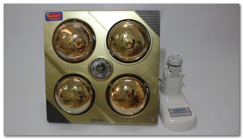 Đèn sưởi nhà tắm Kottmann vàng K4B-G