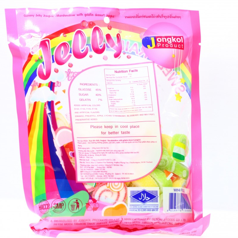 Kẹo dẻo jelly sweet Rainbow 250g