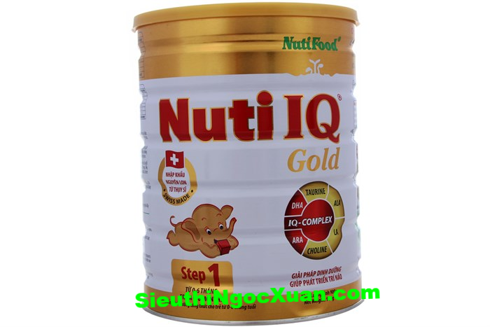 Sữa bột nuti IQ Gold 1-900g