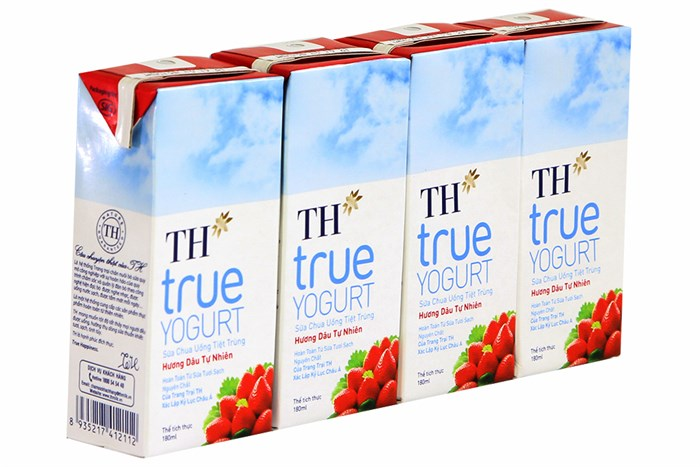 Sữa chua TH True Milk hương dâu 180ml