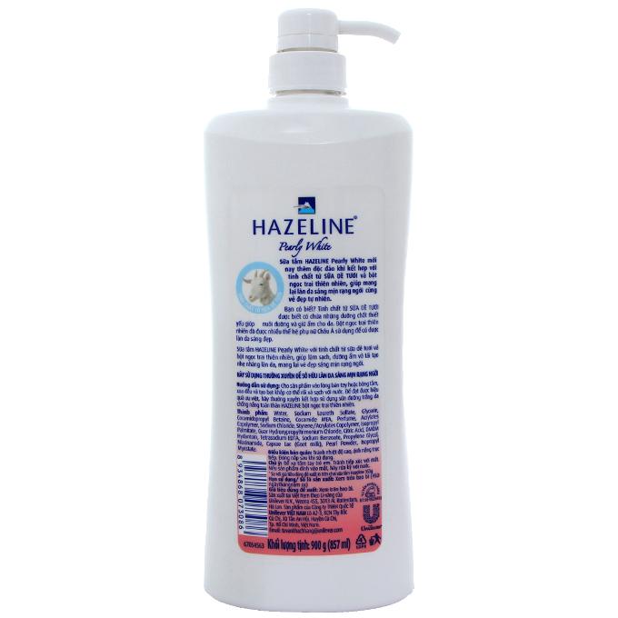 Sữa tắm Hazeline sữa dê và ngọc trai 900g