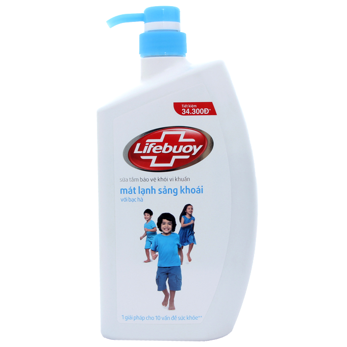 Sữa tắm lifebuoy mát lạnh sảng khoái bạc hà 850g