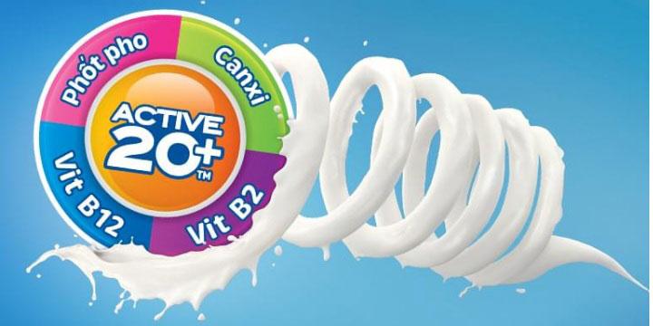 Sữa bịch 20+ socola 220ml