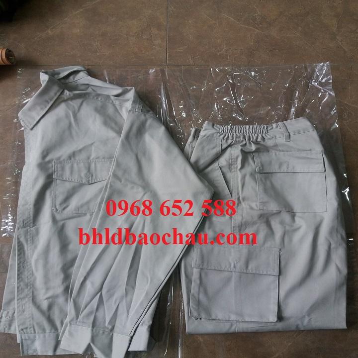 Quần áo bảo hộ lao động giá rẻ, Quần áo bảo hộ vải Kaki Nam Định