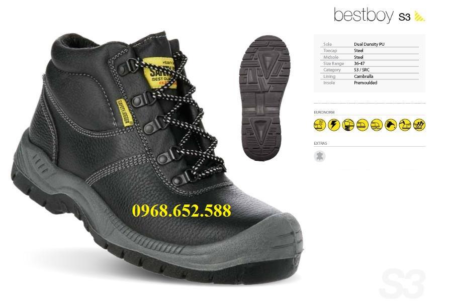 Giầy bảo hộ lao động | Giầy bảo hộ lao động jogger Bestboy S3