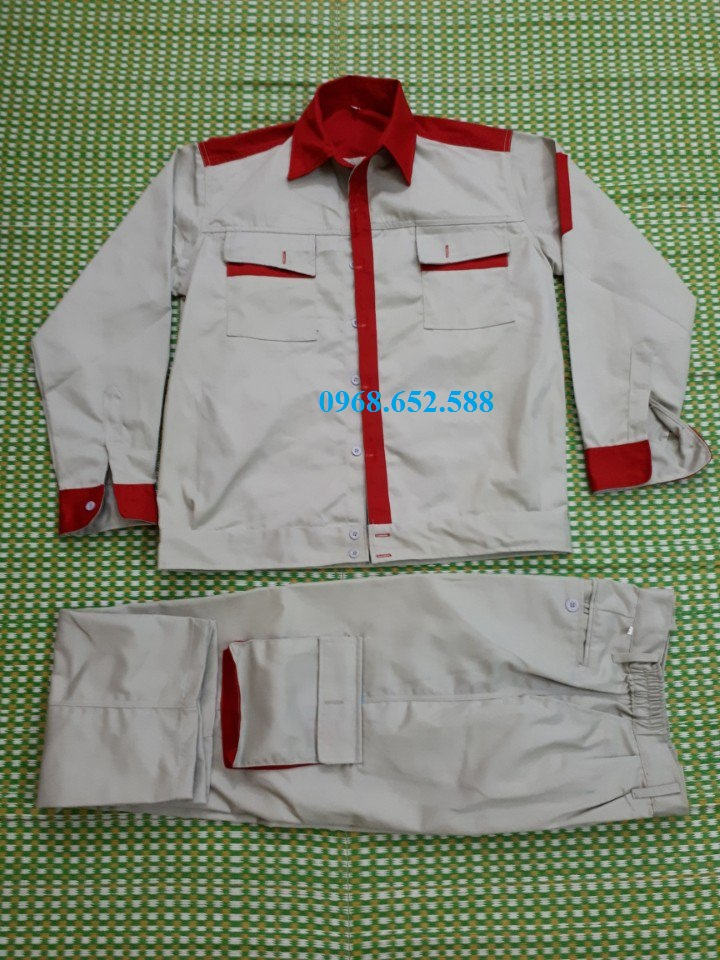 Quần áo bảo hộ lao động, quần áo bảo hộ  vải Kaki Nam Định