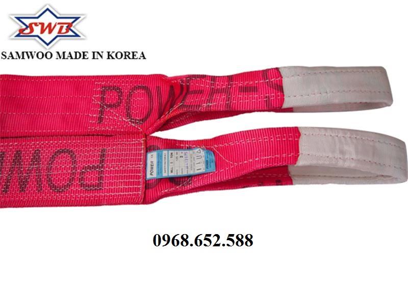 Dây cáp vải cẩu hàng loại 5 tấn, Dây cẩu hàng loại 5tấn Hàn Quốc