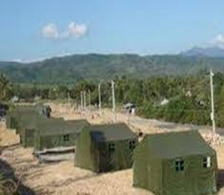 Nhà bạt đại đội 50m2, Nhà bạt quân đội cơ động 50m2