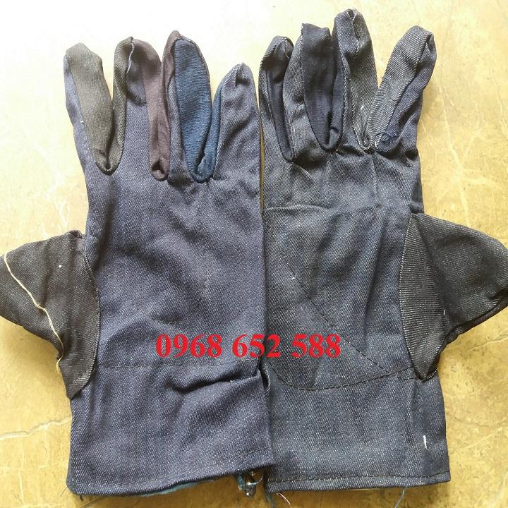 Găng tay bảo hộ lao động vải bò