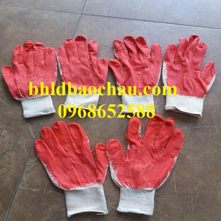 Găng tay bảo hộ, găng tay sợi, Găng tay sơn đỏ
