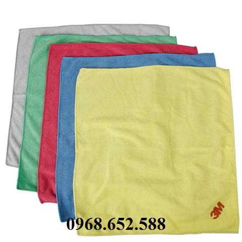 Giẻ lau cotton nhiều màu, giẻ lau nhiều kích cỡ vải coton - vải bò