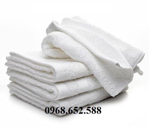 Giẻ lau cotton màu trắng