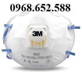 Khẩu trang kháng khuẩn, phòng độc | Khẩu trang 3M 8822 hộp 10 cái