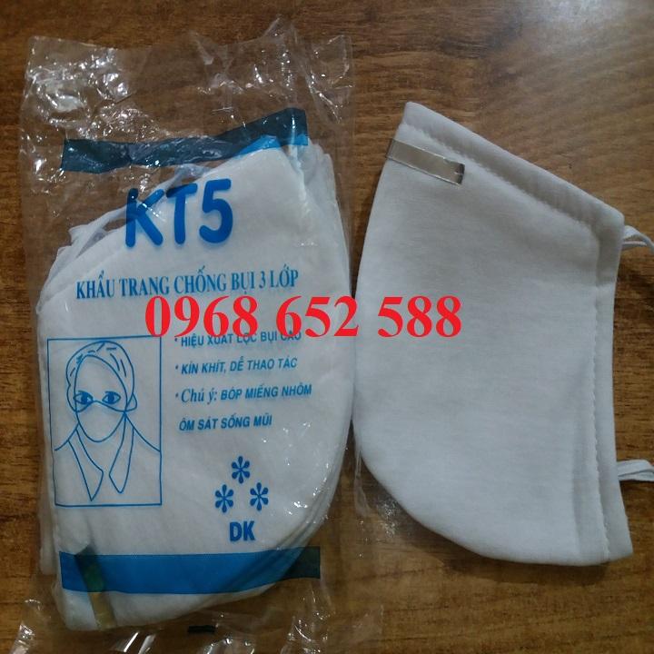 Khẩu trang KT5 | Khẩu trang kháng khuẩn | Khẩu trang chống bụi 3 lớp