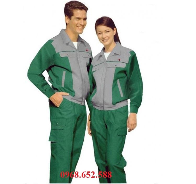 Quần áo BHLĐ , Quần áo bảo hộ lao động phối màu