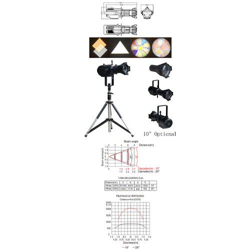 200W LED Profile Spotlight
