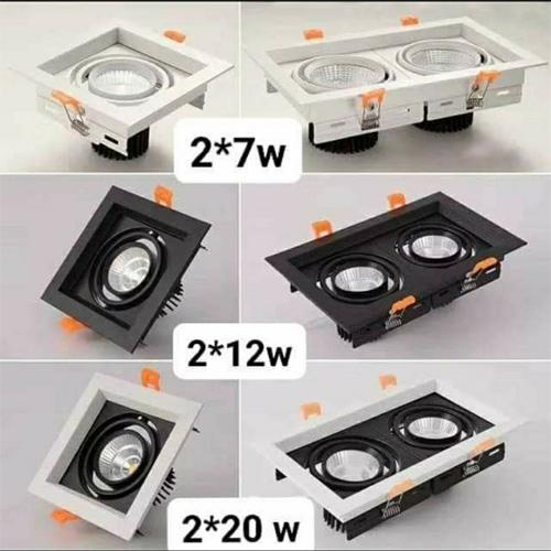 Đèn LED âm trần hộp 2x7W COB