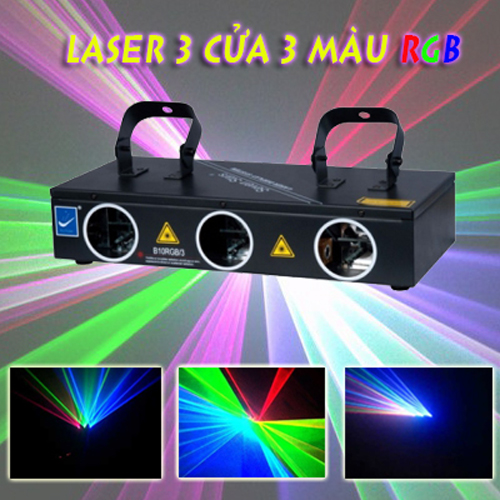 Đèn laser 3 cửa 3 màu B10RGB/3