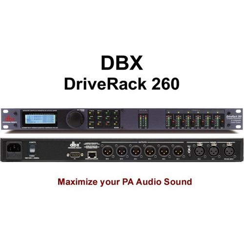 Dbx driverack pa 260 tinh chỉnh âm thanh chuyên nghiệp